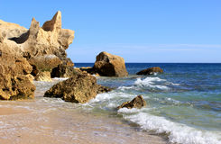 Western Algarve beach scenario, Portugal Stock Photos