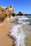 Western Algarve beach scenario, Portugal Royalty Free Stock Images