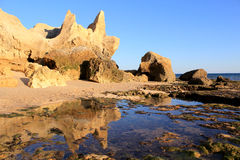 Western Algarve beach scenario, Portugal Royalty Free Stock Photography