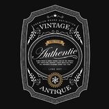 Western antique frame vintage border label hand drawn retro engr Royalty Free Stock Photos
