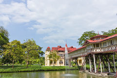 Western architecture. Western architecture,Sanam Chan Palace in Nkhonpathom thailand royalty free stock photos