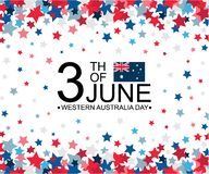 Western Australia Day 3th of June celebration banner template with australian flag and stars pattern decor. Holiday poster. Template. Vector illustration vector illustration