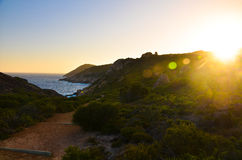 Western Australia Landscape. A Beautiful Bay in Western Australia with sunset Stock Photo
