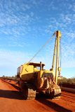 Western Australian pipeline job lifting crew Royalty Free Stock Images