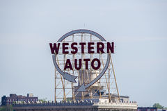 Western Auto sign Stock Photography