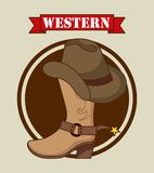 Western banner Stock Images