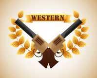 Western banner Royalty Free Stock Photography