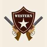 Western banner Stock Photo