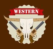 Western banner Stock Photo