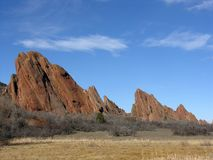 Western Beauty. A classic western scene with red rocks and a deep blue sky Stock Images