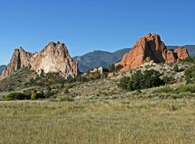 Western Beauty #3. A classic western scene with beautiful rock formations and a deep blue sky royalty free stock photo