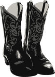 Western Boots. Cowboy boots illustration isolated over white Stock Photography