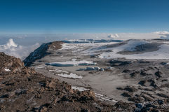 The Western Breach, Kilimanjaro Stock Image