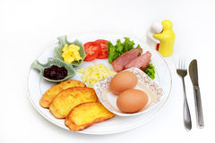 Western breakfast set menu Stock Photo