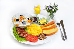 Western breakfast set menu Royalty Free Stock Photo