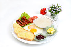 Western breakfast set menu Stock Photos