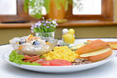 Western breakfast set menu Stock Photography