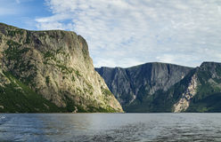 Western Brook Pond Cliff Entrance Royalty Free Stock Photos