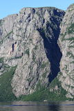 Western Brook Pond Cliffs Royalty Free Stock Photos