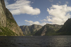 Western Brook Pond Fjords Stock Photos
