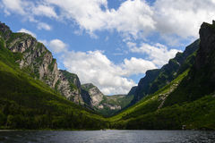 Western Brook Pond. In Gros Morne National Park, Newfoundland, Canada Royalty Free Stock Photography