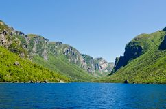 Western Brook Pond. Newfoundland, Canada Stock Photography