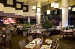 Western buffet restaurant dinner at hotel stock photography