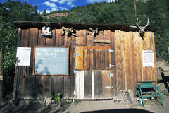 Western building at Bachelor, Box Canyon Mine Tour, Ouray, Colorado, USA Royalty Free Stock Images