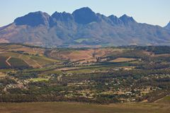 Western Cape landscape. South Africa, landscape in Western Cape Royalty Free Stock Photography