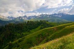 Western Caucasus. View of the Western Caucasus Stock Images