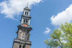 Western church in Amsterdam, Netherlands. Stock Image