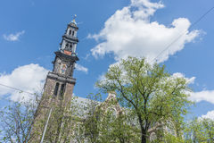 Western church in Amsterdam, Netherlands. Royalty Free Stock Photo