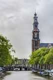 Western church in Amsterdam, Netherlands. Royalty Free Stock Image
