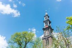 Western church in Amsterdam, Netherlands. Stock Photos