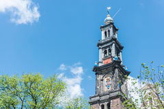 Western church in Amsterdam, Netherlands. Royalty Free Stock Photos