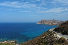 Western coast of corsica Royalty Free Stock Photo