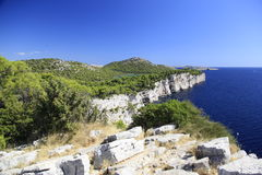 Western coast of Dugi otok Stock Image