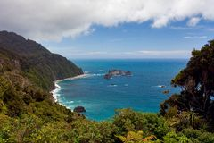 Western Coast New Zealand. Beautiful ocean view on the western coast of new zealand Royalty Free Stock Photos