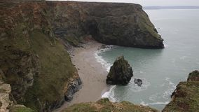 Western Cove Portreath North Cornwall England UK. Between St Agnes and Godrevy on the Heritage Coast stock video
