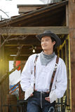 Western cowboy. Portrait of cowboy at a working ranch Royalty Free Stock Photography