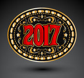 2017 western cowboy belt buckle vector illustration. Eps available Royalty Free Stock Image