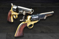 Western Cowboy Pistols. American wild west pistols called six shooters Royalty Free Stock Photos