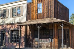 Western Cowboy Town. A western cowboy town used as a movie set for television and cinema Stock Photo