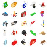Western culture icons set, isometric style Royalty Free Stock Photos