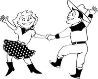 Western dance clip-art Royalty Free Stock Photos
