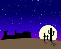 Western Desert Moonlight Royalty Free Stock Photo