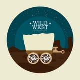 Western design, vector illustration. Royalty Free Stock Image