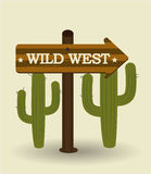 Western design, vector illustration. Stock Images