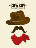 Western design, vector illustration. Stock Photography