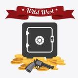 Western design, vector illustration. Stock Photos
